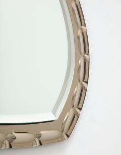 Smoked Glass Beveled Edge Mirror Italy c 1950s - 1166485