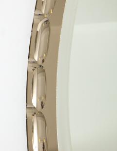 Smoked Glass Beveled Edge Mirror Italy c 1950s - 1166486