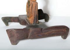Smokey Tunis Smokey Tunis Handcrafted Tiki Pine Table 1950s - 1726305