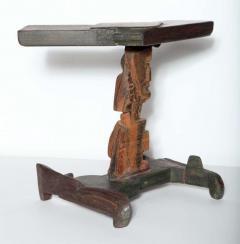 Smokey Tunis Smokey Tunis Handcrafted Tiki Pine Table 1950s - 1726306