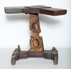 Smokey Tunis Smokey Tunis Handcrafted Tiki Pine Table 1950s - 1726314