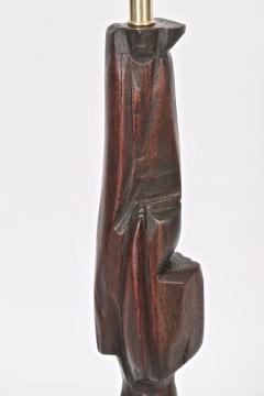 Smokey Tunis Tall Smokey Tunis Hand Carved Poplar Table Lamp 1969 - 1572383