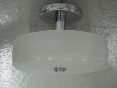 Sober Mid Century Milk Glass Ceiling Fixture - 1877094