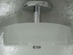 Sober Mid Century Milk Glass Ceiling Fixture - 1877095