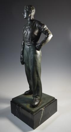 Social Realist Bronze of a Worker WPA Style  - 1392895