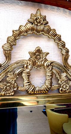 Solid Brass Rococo Form Mirror - 1758431