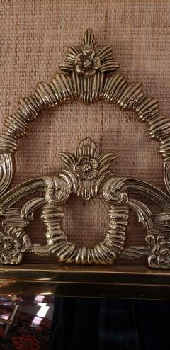 Solid Brass Rococo Form Mirror - 1758437
