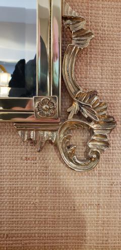 Solid Brass Rococo Form Mirror - 1758439