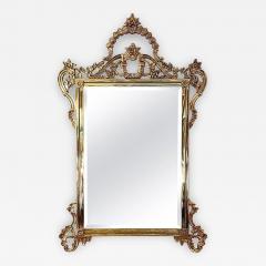 Solid Brass Rococo Form Mirror - 1758527