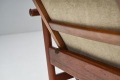 Solid Teak Danish Lounge Chair Denmark 1950s - 2078859