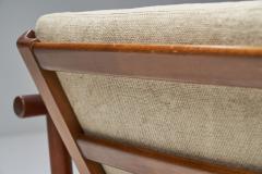Solid Teak Danish Lounge Chair Denmark 1950s - 2078871
