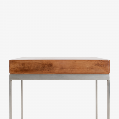 Solid Wood Accent Bench Tables with Steel Bases Pair - 1430699