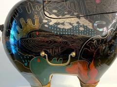 Someya Satoshi Rhino Contemporary Japanese Lacquer Art by Someya Satoshi - 1163023