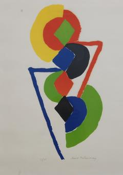 Sonia Delaunay Abstract Geometric Color Lithograph 47 75 - 1207863