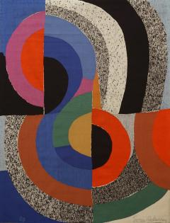 Sonia Delaunay Modern tapestry designed by Sonia Delaunay woven by Pierre Daquin Hippocame - 951604