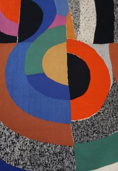 Sonia Delaunay Modern tapestry designed by Sonia Delaunay woven by Pierre Daquin Hippocame - 951701