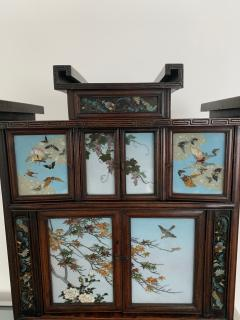 Sosuke Namikawa Japanese Table Cabinet with Cloisonne Panels Attributed to Namikawa Sosuke - 996559