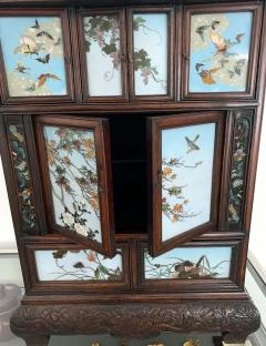 Sosuke Namikawa Japanese Table Cabinet with Cloisonne Panels Attributed to Namikawa Sosuke - 996560