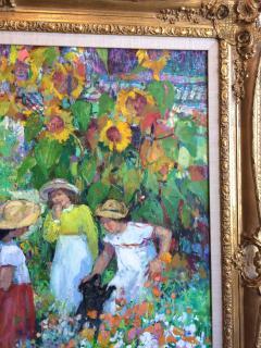 Sotiris Corzo Children In Sunflower Garden - 1215670