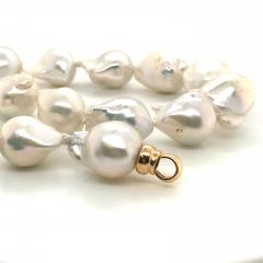 South Sea Baroque Pearl with Yellow gold and diamond Necklace - 1177201