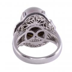 South Seas Pearl Platinum Ring - 2146988