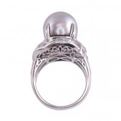 South Seas Pearl Platinum Ring - 2146989