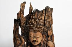Southeast Asian Wood Carving of a Goddess - 666566