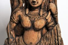 Southeast Asian Wood Carving of a Goddess - 666567