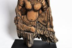 Southeast Asian Wood Carving of a Goddess - 666568
