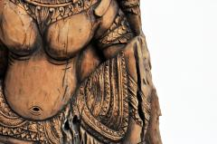Southeast Asian Wood Carving of a Goddess - 666570