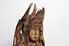 Southeast Asian Wood Carving of a Goddess - 666571