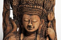 Southeast Asian Wood Carving of a Goddess - 666572