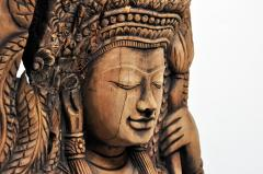 Southeast Asian Wood Carving of a Goddess - 666573