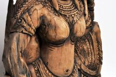 Southeast Asian Wood Carving of a Goddess - 666574