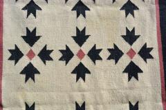 Southwest Art Wall Hanging Handwoven Tapestry in Cream Red and Black 1970s - 2085013
