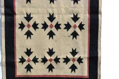 Southwest Art Wall Hanging Handwoven Tapestry in Cream Red and Black 1970s - 2085014