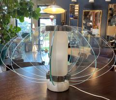 Space Age Italian Marble Base Art Glass Table Lamp circa 1960 - 1232785
