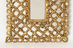 Spanish Gilded and Carved Petite Wood Mirror - 1519137