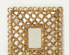 Spanish Gilded and Carved Petite Wood Mirror - 1519139