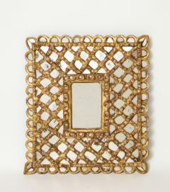 Spanish Gilded and Carved Petite Wood Mirror - 1519140