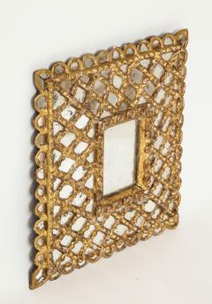 Spanish Gilded and Carved Petite Wood Mirror - 1519141