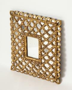 Spanish Gilded and Carved Petite Wood Mirror - 1519149