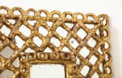 Spanish Gilded and Carved Petite Wood Mirror - 1519150