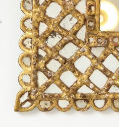 Spanish Gilded and Carved Petite Wood Mirror - 1519151