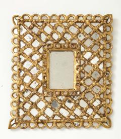 Spanish Gilded and Carved Petite Wood Mirror - 1519153