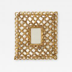 Spanish Gilded and Carved Petite Wood Mirror - 1521907