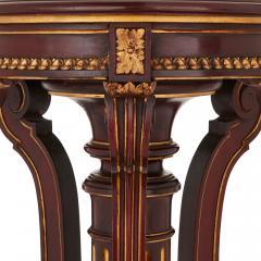 Spanish antique parcel gilt wood pedestal stand - 1459569