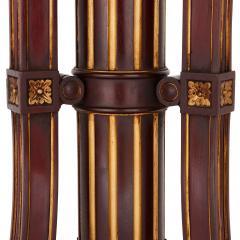 Spanish antique parcel gilt wood pedestal stand - 1459570