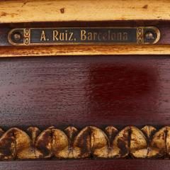 Spanish antique parcel gilt wood pedestal stand - 1459572