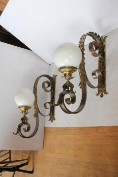 Spectacular 1920s American Bronze Wall Sconces - 688533